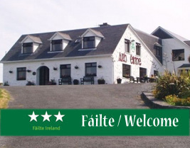 image of front of ard einne, aran islands guesthouse